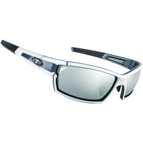 Tifosi Escalate SF Glasses Herren white/gunmetal - smoke/ac red/clear
